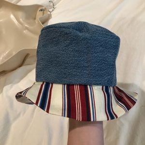 🧢denim striped bucket hat